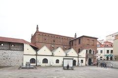 在犹太四分之一卡齐米日的老犹太教堂 库存图片