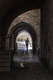 在犹太处所的古老胡同 以色列耶路撒冷 免版税库存图片