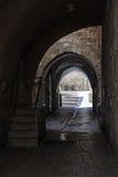 在犹太处所的古老胡同 以色列耶路撒冷 库存照片