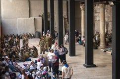 在犹太处所的古老胡同 以色列耶路撒冷 免版税库存照片
