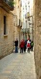 在犹太季度的街道希罗纳 免版税库存图片