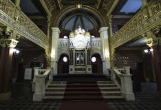 在犹太教堂的法坛 免版税库存照片