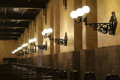 在犹太教堂的灯 库存照片