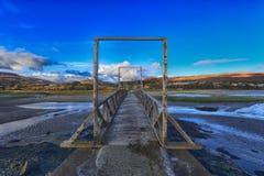 在狂放的大西洋途中Mulrany的木桥 免版税库存图片
