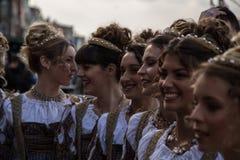 在狂欢节时间的Venezia 免版税图库摄影