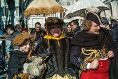 在狂欢节时间的Venezia 库存照片