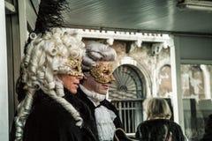 在狂欢节时间的Venezia 免版税库存照片