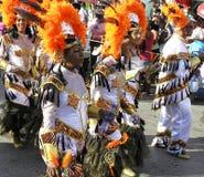 在狂欢节服装的庄严的队伍 2008年2月3日 库存照片
