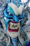 在狂欢节的妖怪面具Guerra (多米尼加共和国) 免版税库存图片