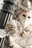 在狂欢节的屏蔽,广场圣Marco,威尼斯,意大利 图库摄影