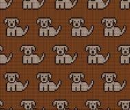 在狗的被编织的无缝的样式 免版税库存图片