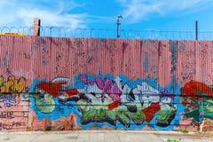 在狩猎点,布朗克斯的街道画艺术  NYC 免版税库存图片