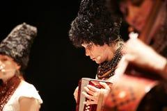 在独奏音乐会的DakhaBrakha在剧院 免版税库存照片