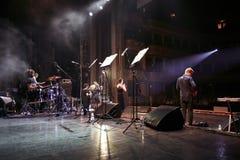 在独奏音乐会的Jamala在利沃夫州歌剧院 免版税库存图片