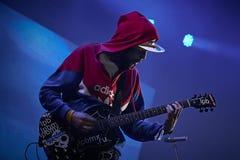 在独奏音乐会的Noize MC在Zaxidfest节日 库存图片