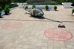 在独立宫殿西贡的Huey直升机 图库摄影
