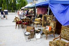 在独立广场,扎科帕内的古董销售 库存图片