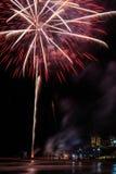 在独立日的庆祝的烟花 免版税库存照片