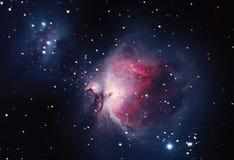 在猎户星座,更加杂乱42的伟大的星云 免版税库存图片