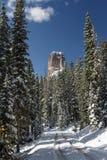 在猫头鹰小河通行证的烟囱岩石- Colora的优美的风景 图库摄影