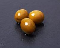 在玄武岩的橄榄 免版税库存照片