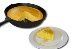 在玉米上添面包 库存图片