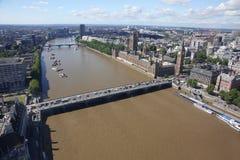 在王国伦敦之上团结的视图 库存照片