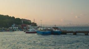 在王子Islands的小船 库存照片