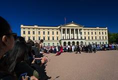 在王宫的挪威宪法天 库存图片