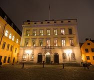 在王宫的正方形的大厦在斯德哥尔摩 瑞典 05 11 2015年 免版税库存图片