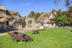 在玛丽・安托瓦内特的小村庄的农舍在凡尔赛 免版税库存图片