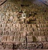 在玛雅废墟的象形文字的楼梯- Copan考古学站点,洪都拉斯 库存照片