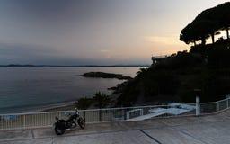 在玫瑰的地中海风景,布拉瓦海岸西班牙 库存照片
