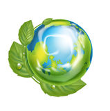 在环境概念的地球地球被隔绝的 库存照片