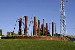 在环形交通枢纽的纪念碑 库存照片