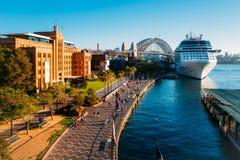 在环形码头的岩石,悉尼,澳大利亚 免版税库存照片