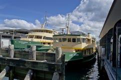 在环形码头悉尼的轮渡 库存图片