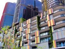 在环形码头的公寓楼,悉尼,澳大利亚 库存照片