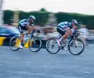 在环法自行车赛的车手 免版税库存图片