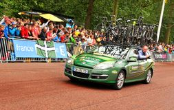 在环法自行车赛的队Europcar 免版税库存图片