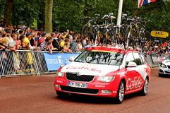 在环法自行车赛的Cofidis队 库存图片