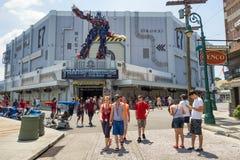 在环球影业佛罗里达的新的变压器3D乘驾 库存图片