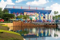 在环球影业佛罗里达的辛普森乘驾 免版税库存图片