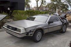 在环球影业奥兰多佛罗里达的DeLorean DMC-12 免版税库存照片