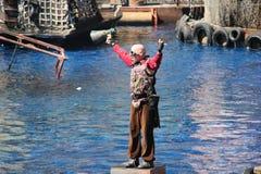 在环球影业好莱坞的Waterworld 免版税库存图片