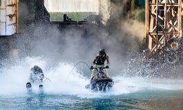 在环球影业的Waterworld 免版税图库摄影