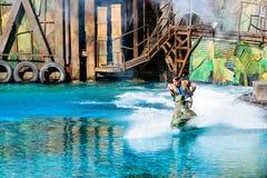 在环球影业的Waterworld 免版税库存图片