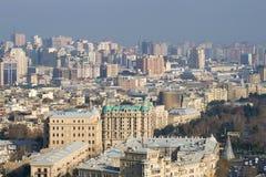 在现代巴库的晴朗的12月早晨 阿塞拜疆 库存照片