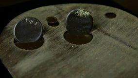 在现代早餐点心的特写镜头圆的巧克力圈子装饰 股票录像