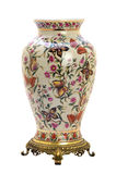在现代样式的古色古香的瓷瓶子。 图库摄影